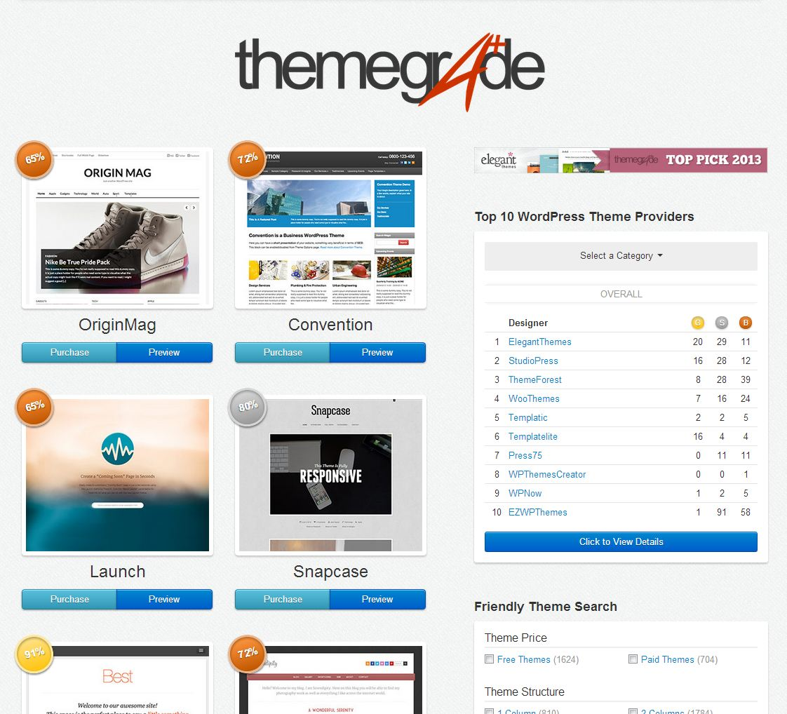 themegrade.com Screenshot