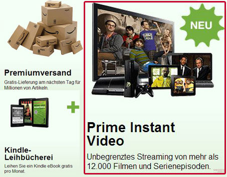 Amazon Prime Instant Video - 30 Tage gratis